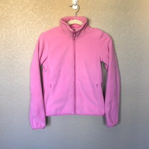 Uniqlo Pink Fleece Full-Zip Jacket